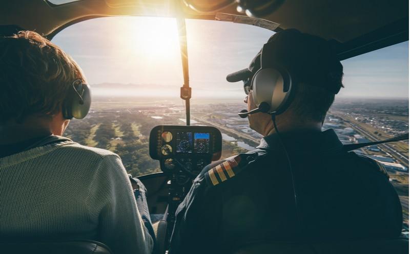 hélicoptère vue pilote